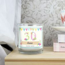 Birthday Age Craft Scented Jar Candle